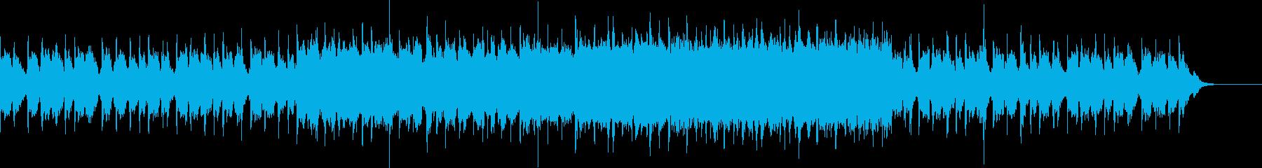 エレクトリックな音が重なり消えていく曲の再生済みの波形