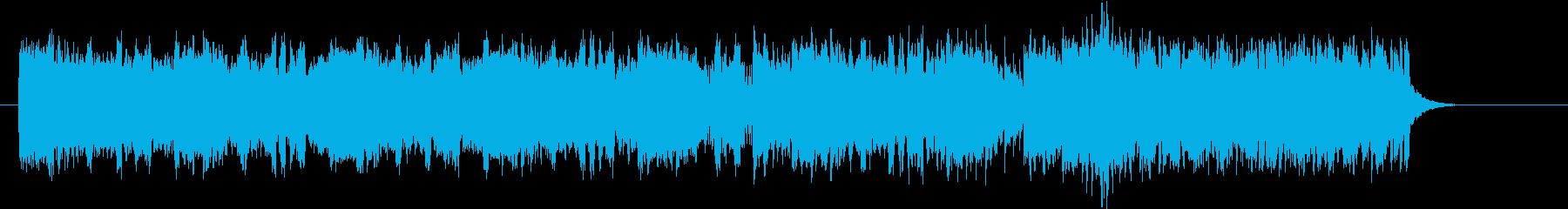 激しく切ないテクノ音楽の再生済みの波形