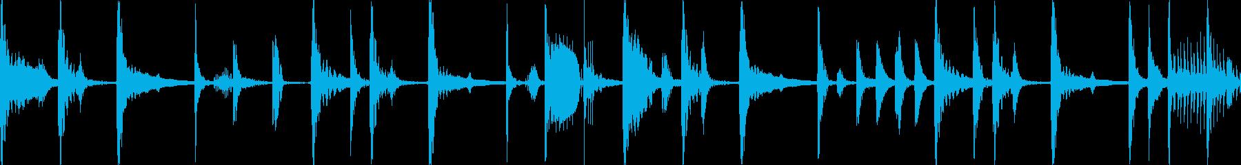 ジャングル多国籍民族のBGM_LOOPの再生済みの波形