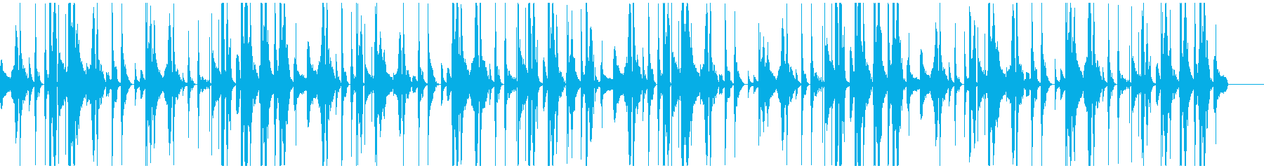 臨場感!回るDJスクラッチ入りドラムの再生済みの波形