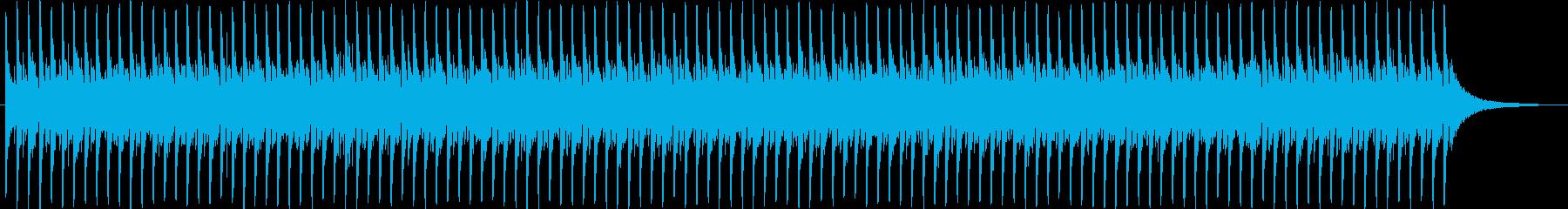 シンセサイザーが印象的なBGM2の再生済みの波形