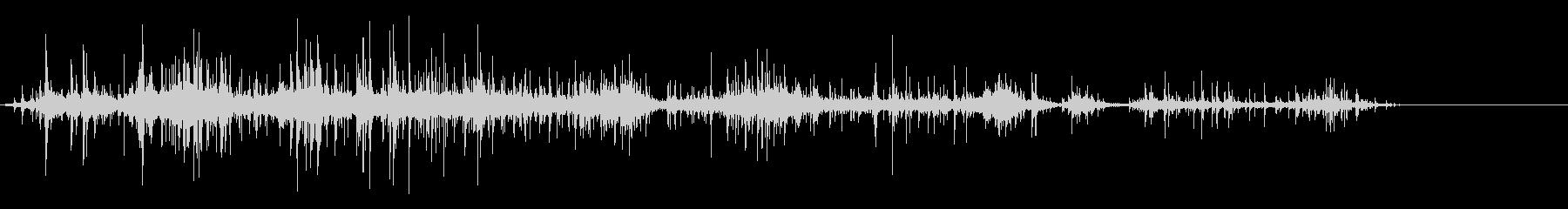 [生音]紙をクシャクシャにする03の未再生の波形