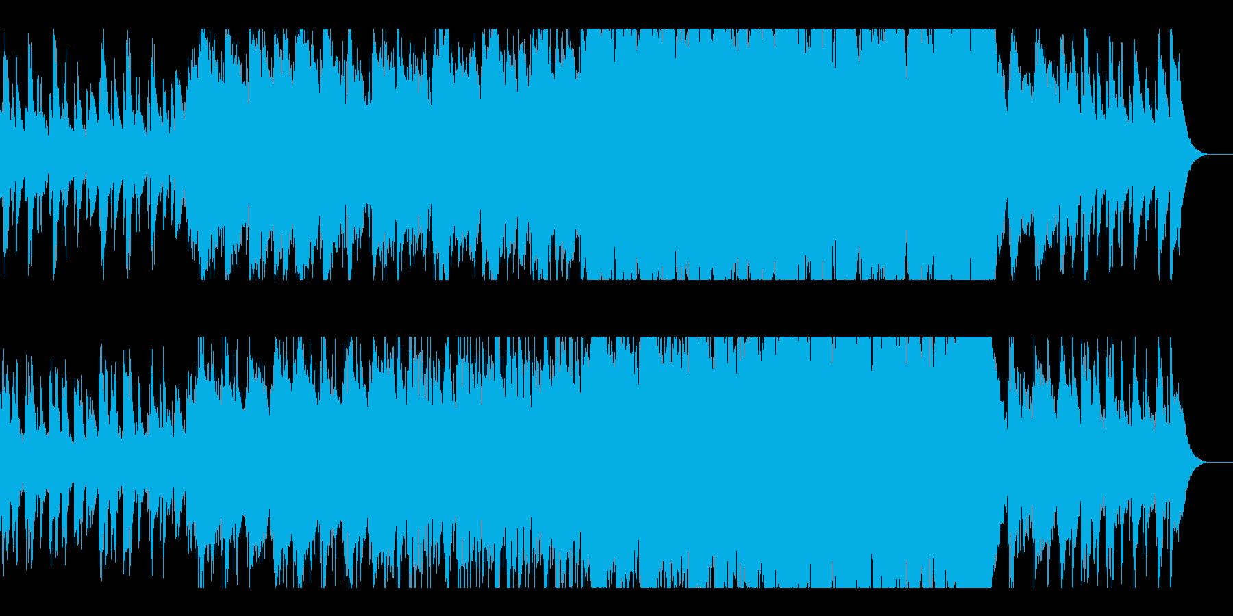 幻想的で切ないピアノとオーケストラの再生済みの波形