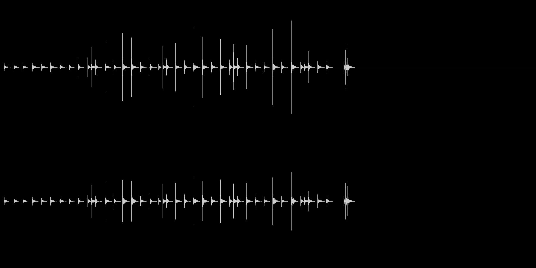 小木魚木章5歌舞伎黒御簾下座音楽和風日本の未再生の波形