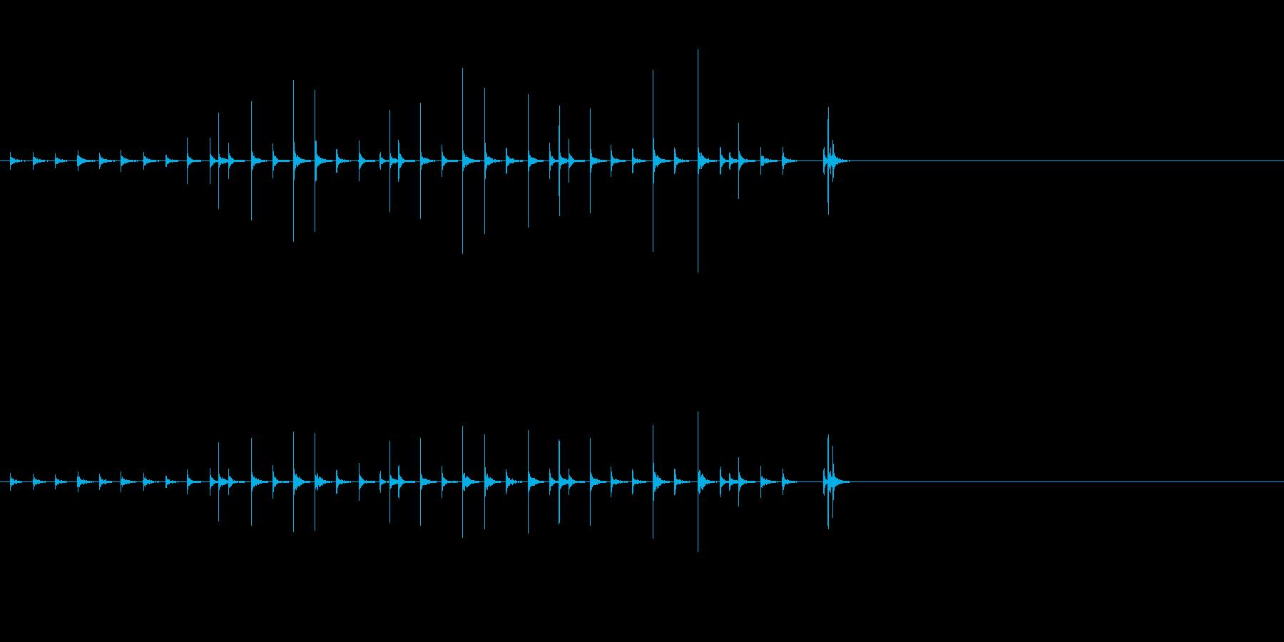 小木魚木章5歌舞伎黒御簾下座音楽和風日本の再生済みの波形
