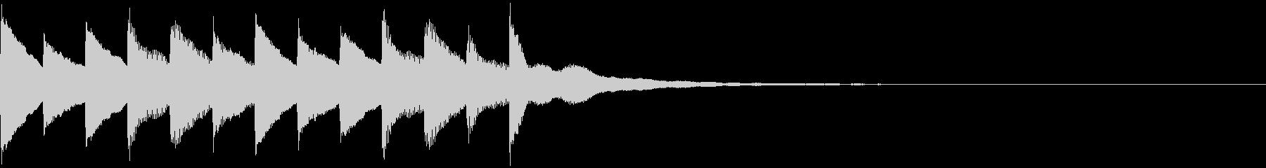 サウンドロゴ、ゴージャス感、verBの未再生の波形