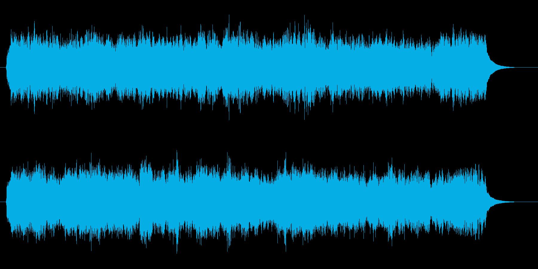 神々しく荘厳なクワイアを用いたBGMの再生済みの波形