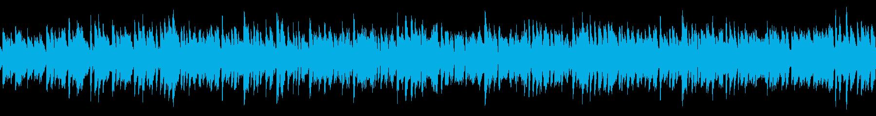 ポップなコメディー向きBGM(ループ)の再生済みの波形