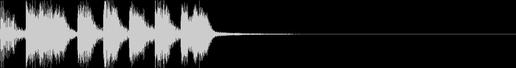 ゲーム・アイキャッチ向けテクノジングルの未再生の波形