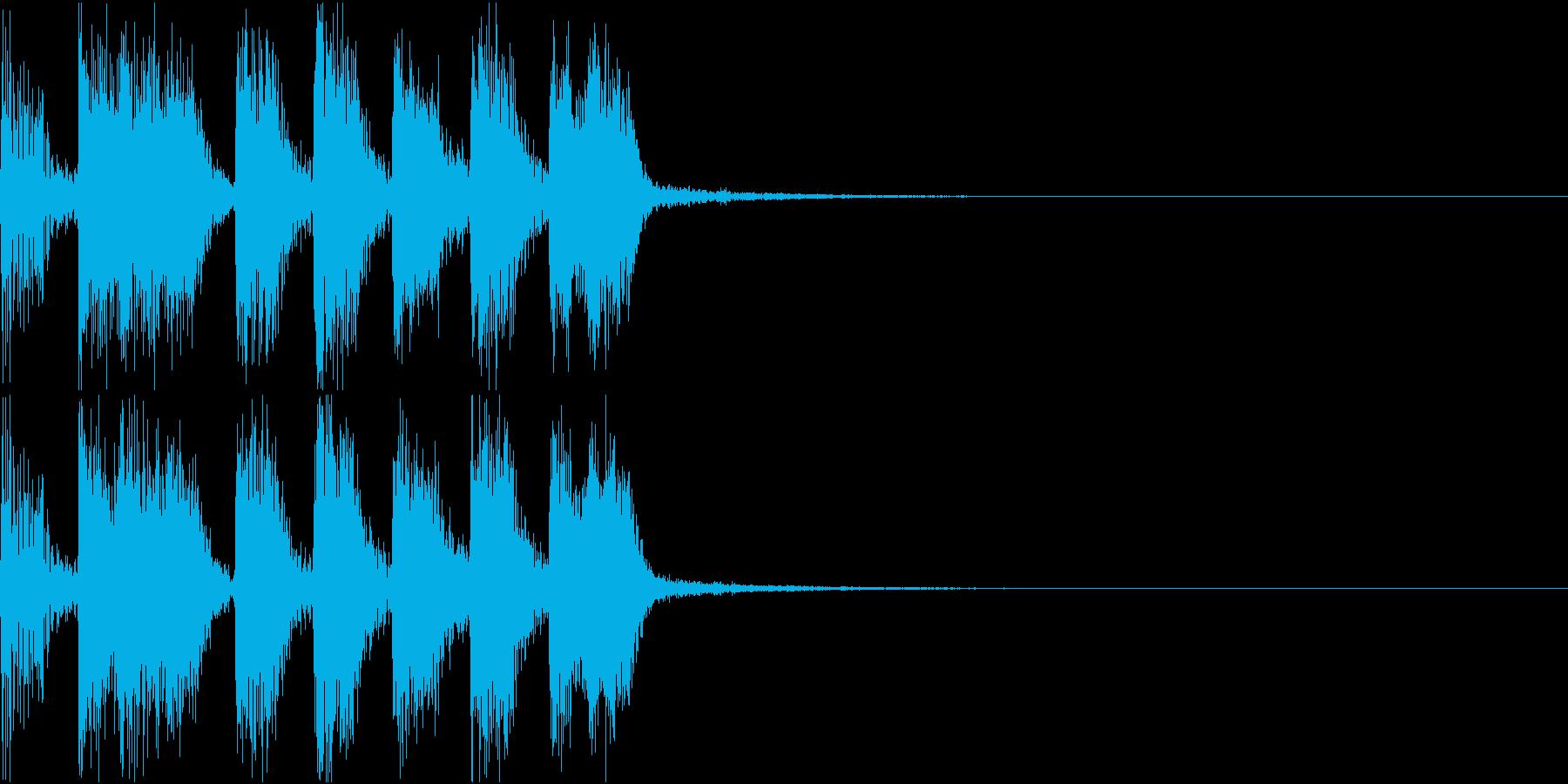 ゲーム・アイキャッチ向けテクノジングルの再生済みの波形