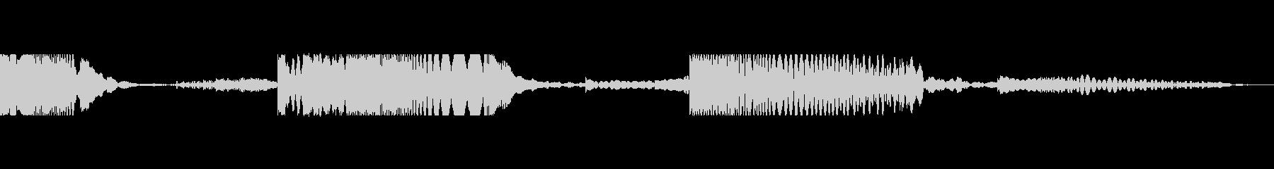 レーザーリコシェット3の未再生の波形