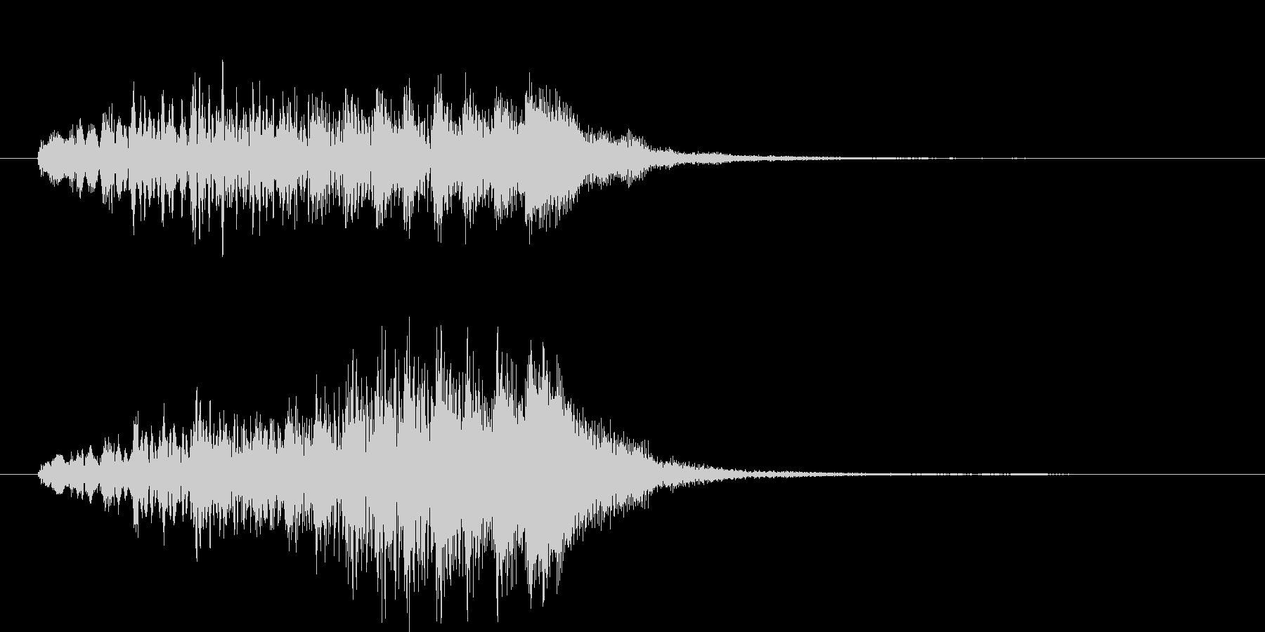 綺麗で上品な上昇系サウンドロゴの未再生の波形