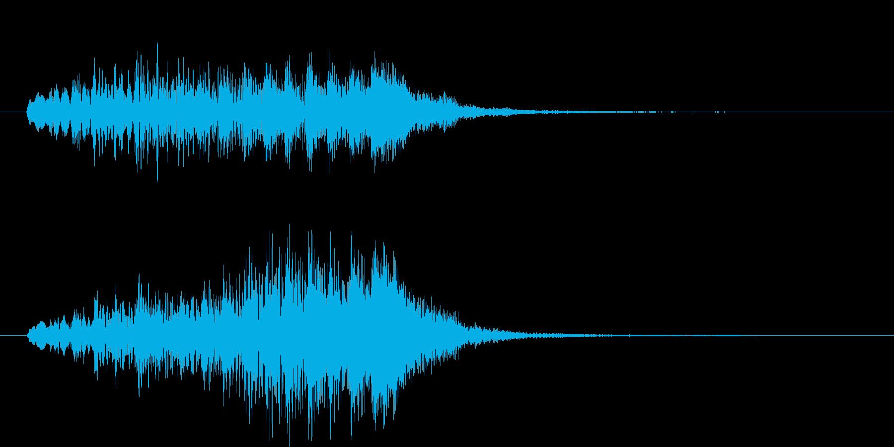 綺麗で上品な上昇系サウンドロゴの再生済みの波形