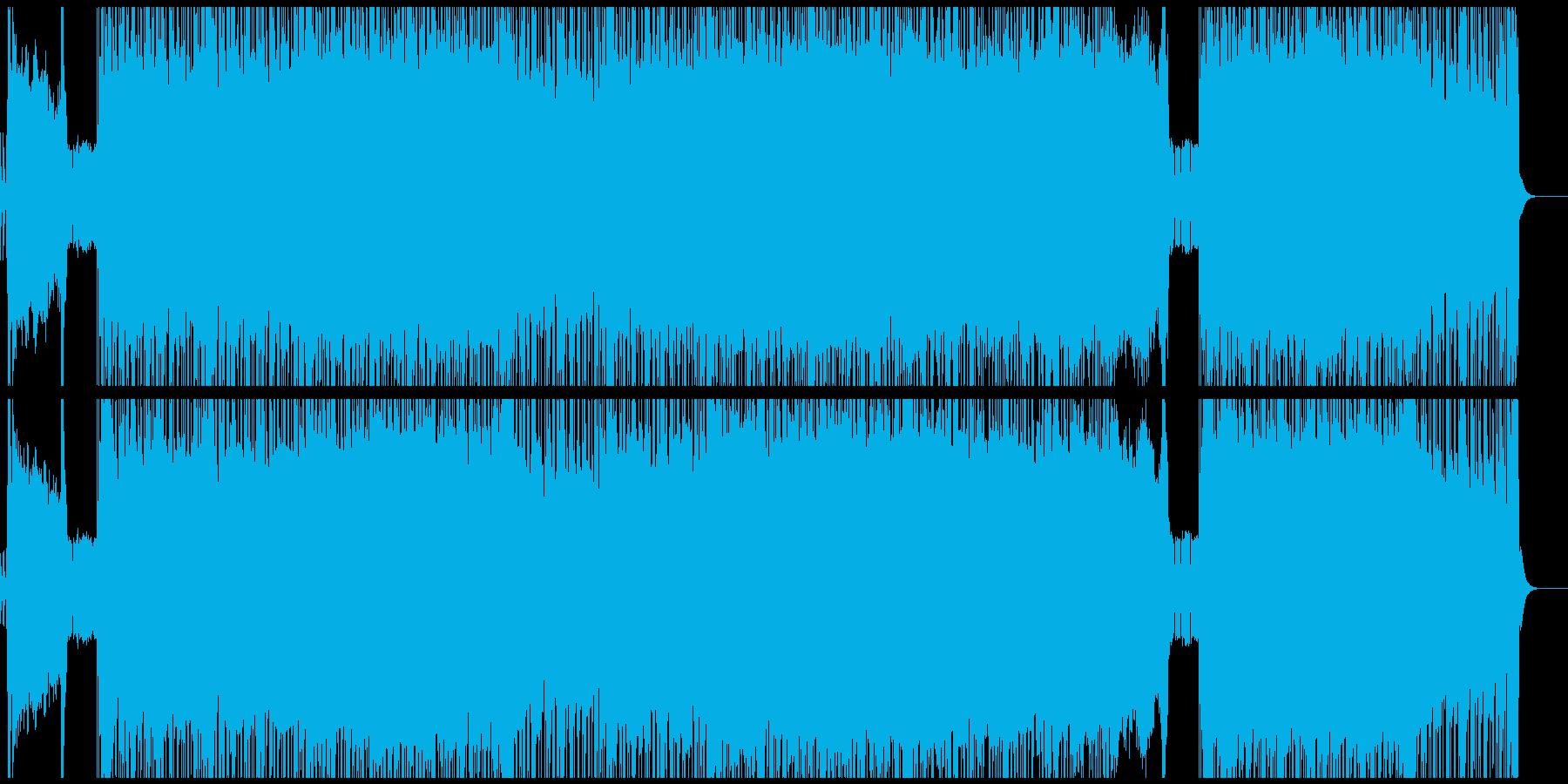 熱いギターメロのロックBGMの再生済みの波形