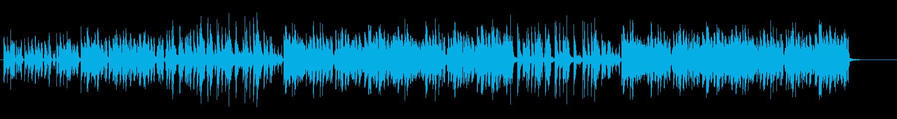 可愛く穏やかなジャズテイストなボサノバの再生済みの波形