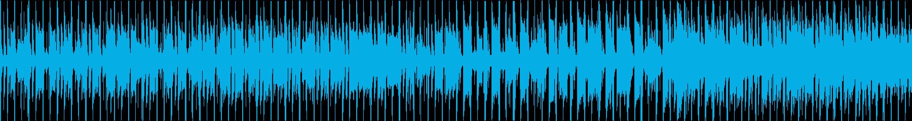 陽気なアメリカンミドルアップの再生済みの波形