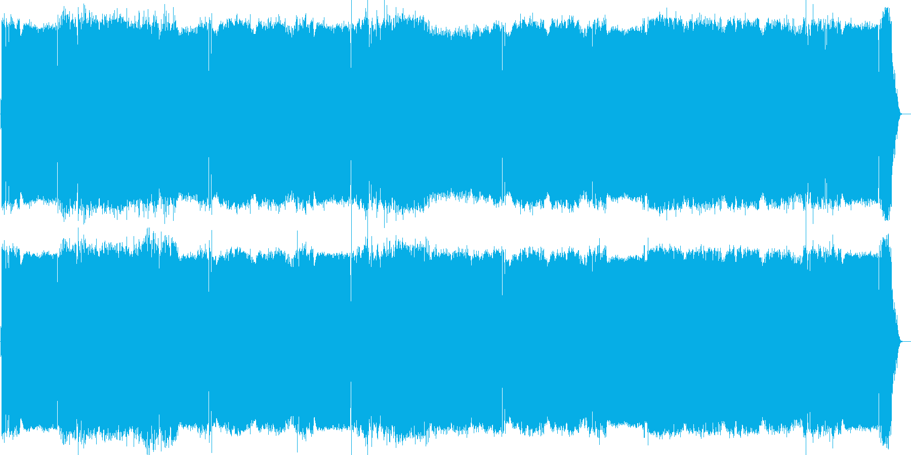 可愛い萌え声のアニソン風デジタルロックの再生済みの波形