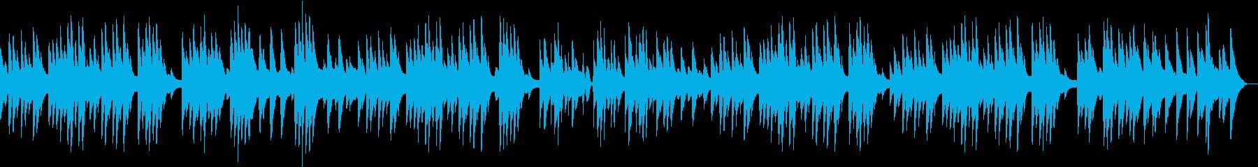 不思議な雰囲気のソロピアノ曲の再生済みの波形