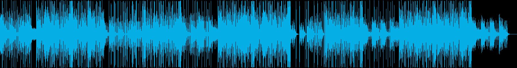 お洒落な洋楽トラップビートの再生済みの波形