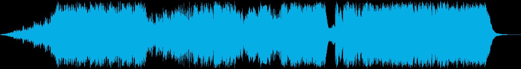 破壊シーンの音楽の再生済みの波形