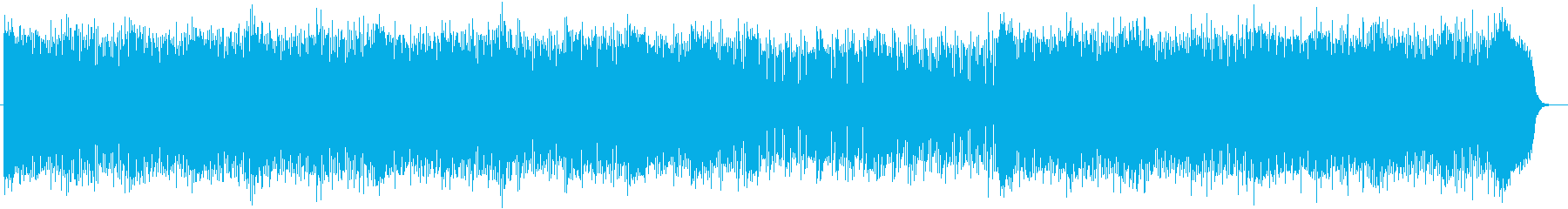 近未来感のあるシンセサイザーサウンドの再生済みの波形
