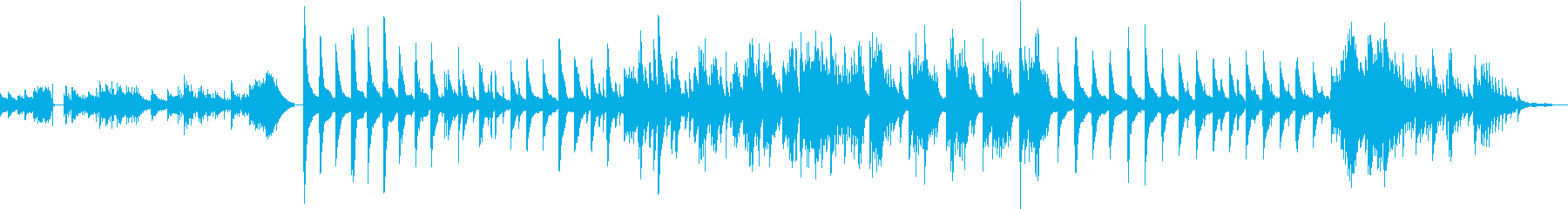 悲しみ系のピアノ曲の再生済みの波形