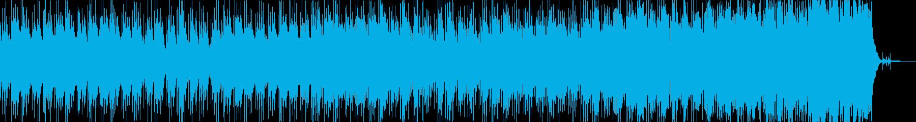 神秘的な森をイメージした静かな曲の再生済みの波形