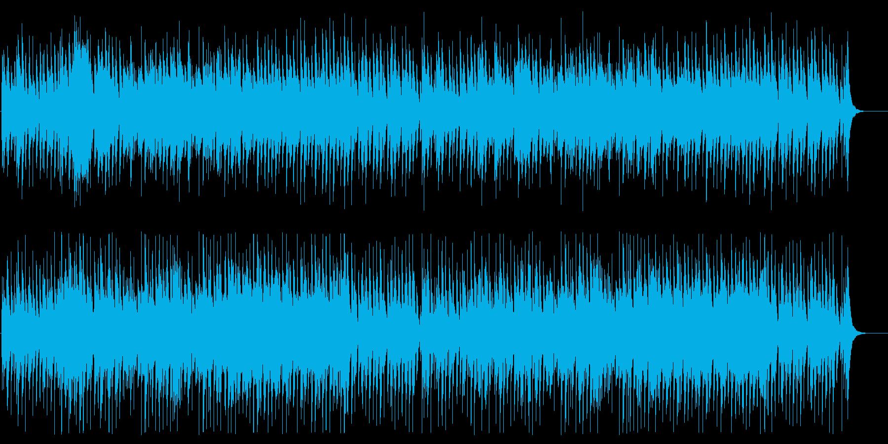 陽気で和風な琴と三味線の再生済みの波形