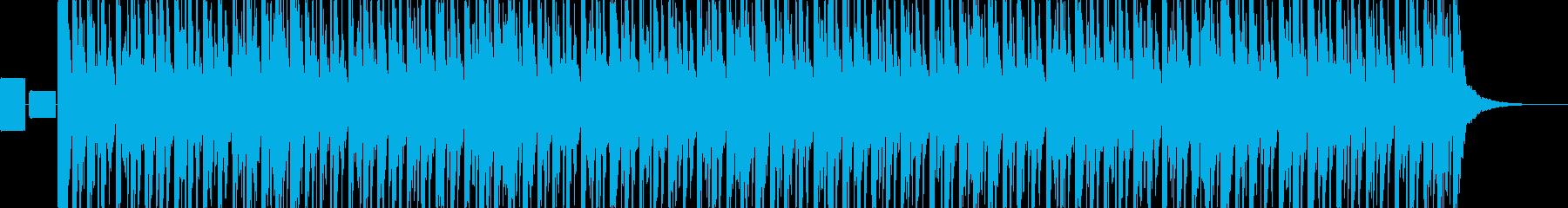 はっちゃけたサンバのリズムの再生済みの波形