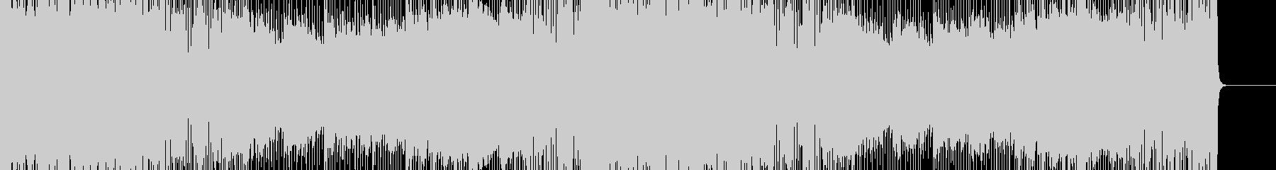 ハロウィン向けハードロックBGMの未再生の波形