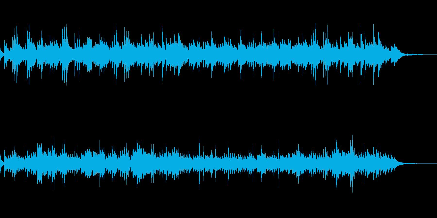 童謡「浜辺の歌」シンプルなピアノソロの再生済みの波形