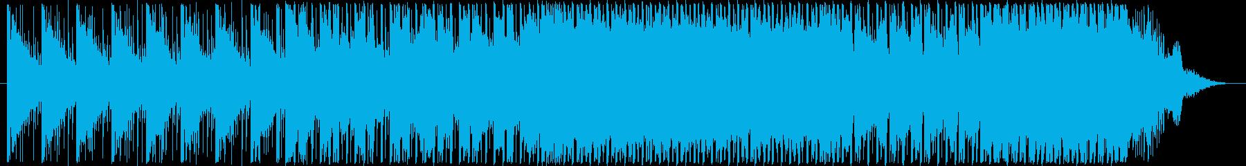 ピコピコ・シンプルシンセコードBGMの再生済みの波形