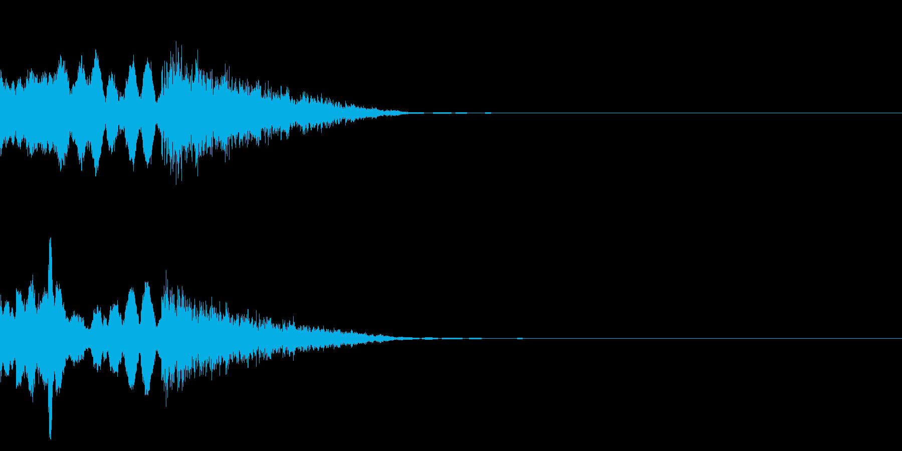 穏やかなファンファーレの再生済みの波形