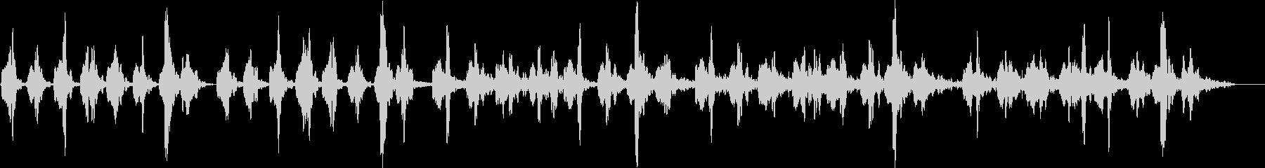 柔らかい音空間の優しいアンビエントの未再生の波形