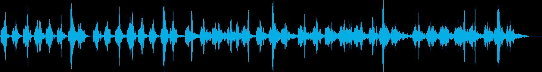柔らかい音空間の優しいアンビエントの再生済みの波形