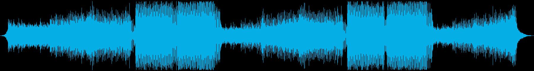近未来、疾走感、夜空をイメージしたEDMの再生済みの波形