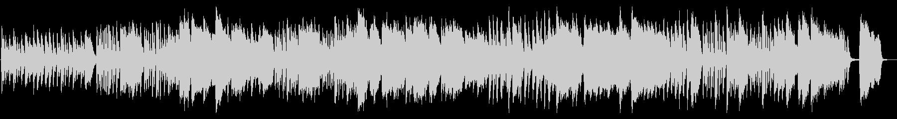 ほのぼのしたフルートと木琴の日常曲の未再生の波形
