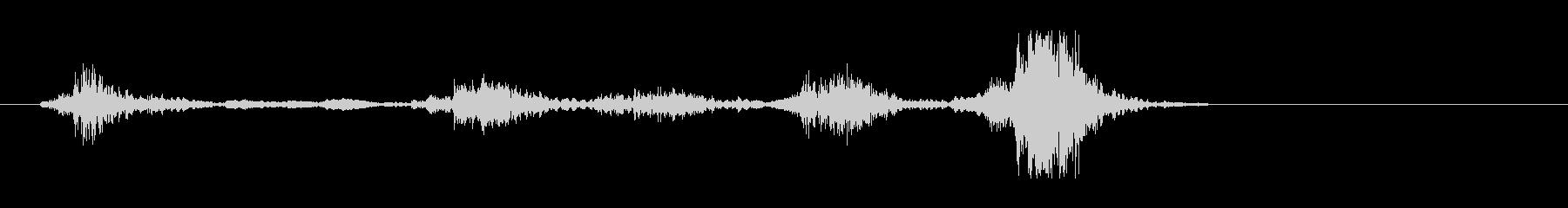 カチャ、(鍵などを差し込んで回した音)の未再生の波形