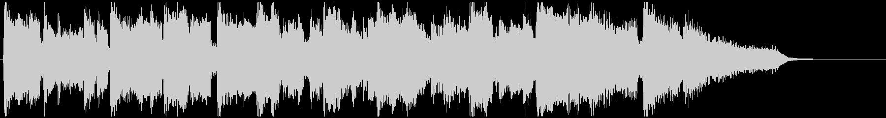 滑らかなクラリネット生演奏の15秒CM曲の未再生の波形