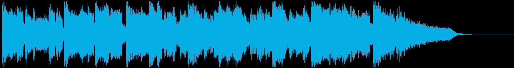 滑らかなクラリネット生演奏の15秒CM曲の再生済みの波形