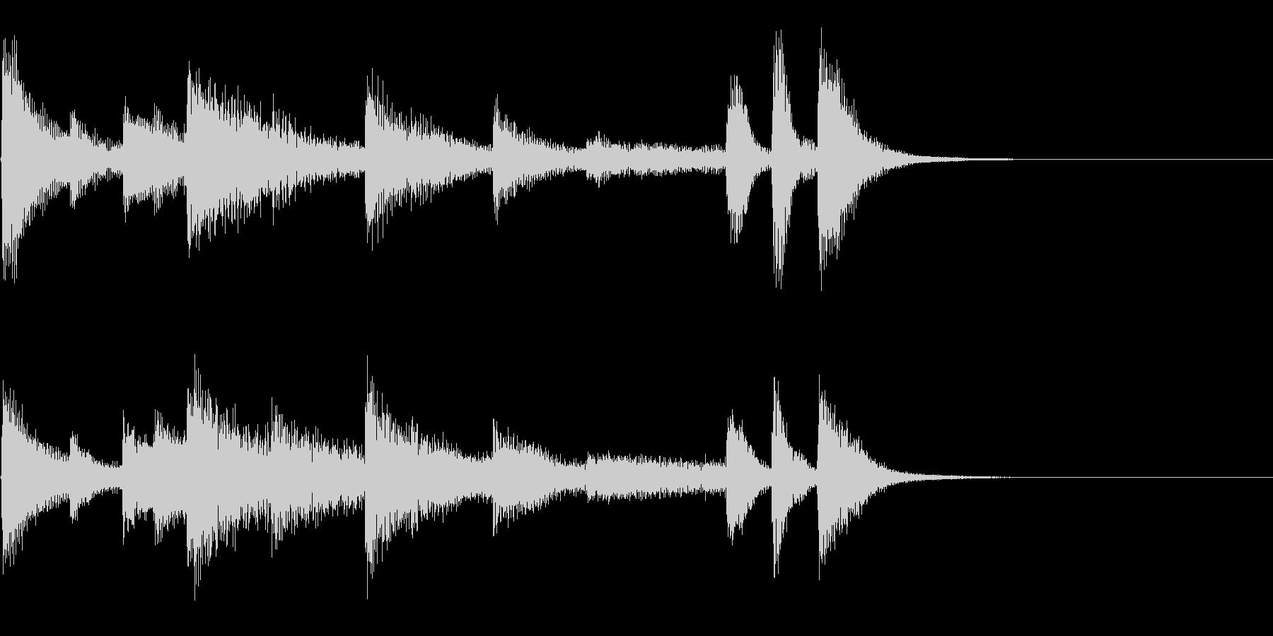 かわいいピアノジングルの未再生の波形