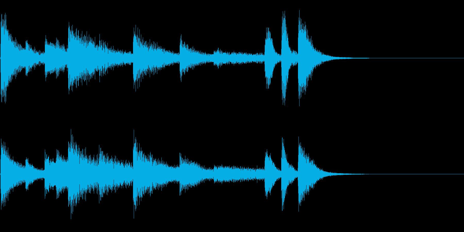 かわいいピアノジングルの再生済みの波形