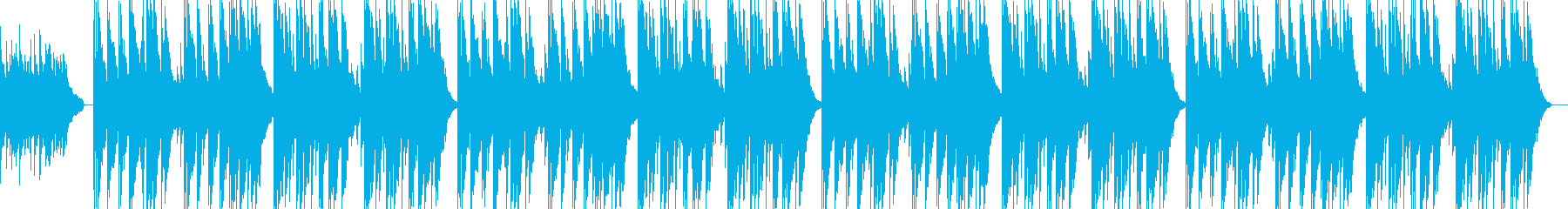 アコギのさびしくゆったりしたBGMの再生済みの波形