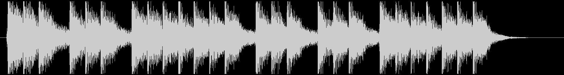 三三七拍子モチーフ力強い和風ジングル 4の未再生の波形