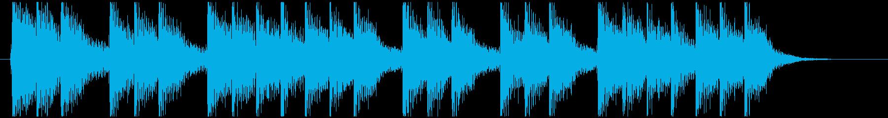 三三七拍子モチーフ力強い和風ジングル 4の再生済みの波形