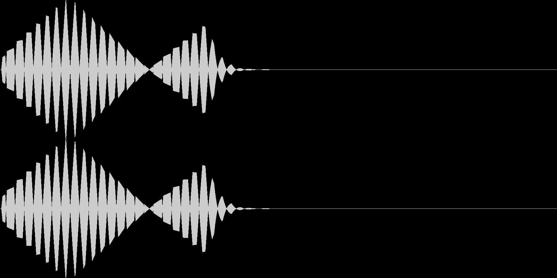 ピロ低音(カーソル移動 表示 決定)の未再生の波形
