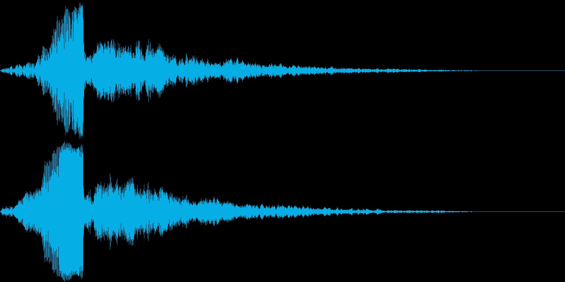 【ダーク】アナログシンセから出る電子音の再生済みの波形