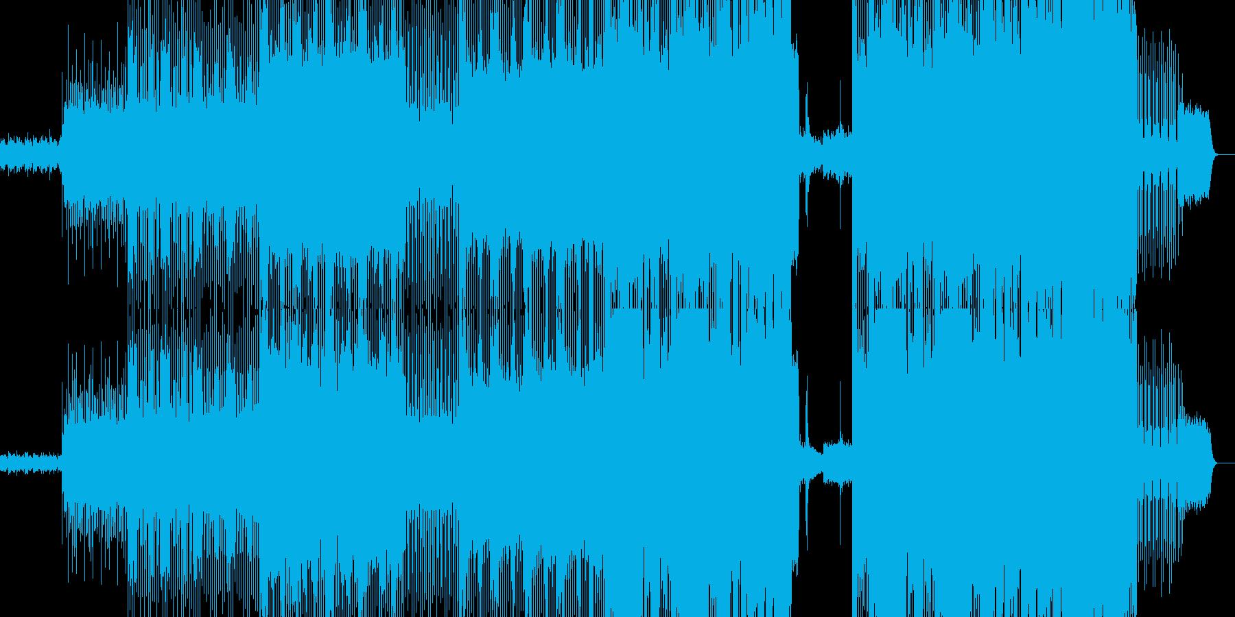 幻想的なエレクトロインストロメンタルの再生済みの波形