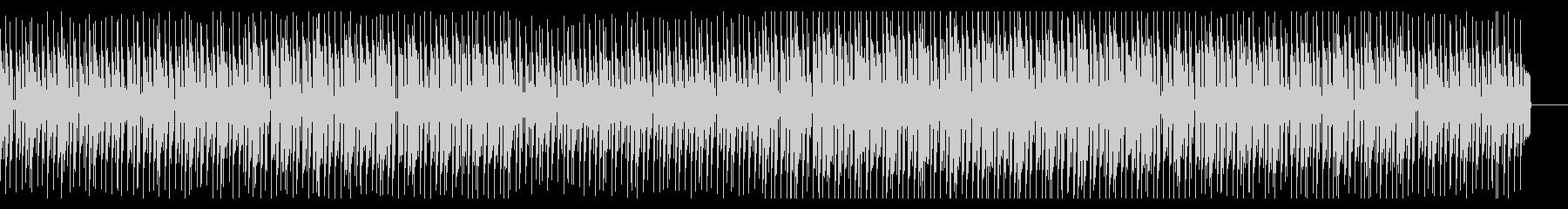 明るく楽しそうな雰囲気のBGMの未再生の波形