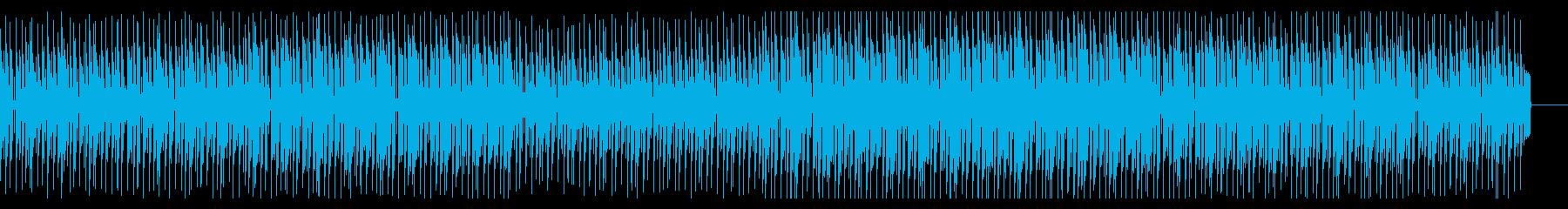 明るく楽しそうな雰囲気のBGMの再生済みの波形